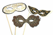 Photo Booth Props Weddings Parties Masquerade Masks  x 3PC
