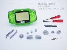 Clear Green Nintendo Game Boy Advance GBA Casing Housing Case Shell Screwdriver