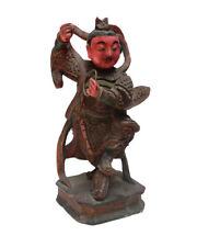 Vintage Wooden Carved Home Guardian God Figure s263