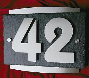 3D Hausnummer Edelstahl Schiefer Anthrazit Hausnummernschild V2A Zahlen