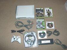 Microsoft Xbox 360 Arcade 20GB HDMI wireless controller earforce Headset 5 games