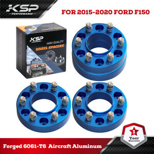 """4Pcs Blue Hubcentric Wheel Spacers 6x135 1.5"""" thick 14x1.5 For 2015-2021 F-150"""