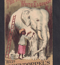 White Elephant 1884 Before & After Dreydoppels Soap Sulphur Skin Cure Trade Card