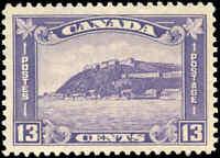 1932 MH (Regummed) Canada F-VF Scott #201 13c King George V Medallion Stamp