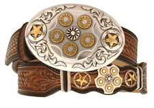 Leegin Texas Star Bullet Buckle Men's Leather Belt