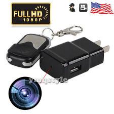 US 1080P Full HD Adapter SPY Plug Charger Mini Video Recorder DVR Hidden Camera