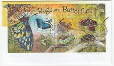 2003 SOUVENIR COVER/FIRST DAY OF ISSUE 'BUGS & BUTTERFLIES' - WITH MINI SHEET