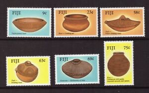 Fiji MNH 1988 Art Ancient Pottery set mint stamps