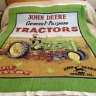 Advertising John Deere General Purpose Tractors, Throw, Blanket 48in x 32in
