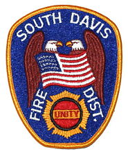 South Davis Fire District Bountiful Utah Ut Police Sheriff Patch Eagle Flag Larg