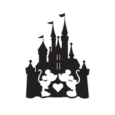 Mickey and Minnie Mouse Castle Vinyl Decal Sticker Silhouette Disney