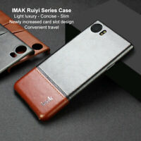 For BlackBerry Keyone, Imak Shockproof Classic Business Leather Back Case Cover