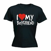 I Love My Boyfriend WOMENS T-SHIRT tee heart her funny mothers day present her