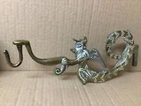 Vintage Brass Gong Holder (Wall Mount) With Winged Angel