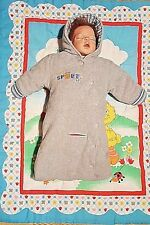 Child of Mine Carter's Gray Carseat Snowsuit Bunting Pram Size 3-6 Months