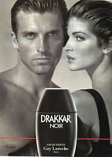 Publicité Advertising 1996  Parfum  DRAKKAR NOIR eau de toilette GUY LAROCHE ...
