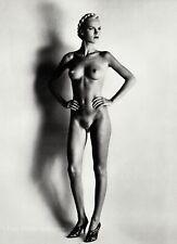 1980 Vintage HELMUT NEWTON Female Nude Blond Woman Paris Fashion Photo Art 16X20