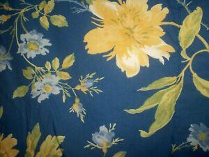 2 Pillow Shams Emilie Rose Laura Ashley Blue Yellow Floral ~ Standard size