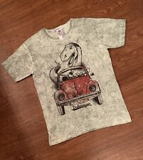 Volkswagen Official Boys VW Beatle-dinosaur, green T-shirt Age 9-11 Years