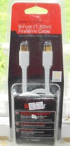 Firewire Cable 6 Pin to 6 Pin Cord 6 ft.  Camcorder to Computer HDTV