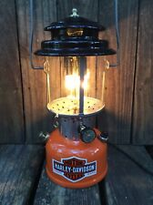 Harley Davidson Repurposed Coleman 220F Lantern Table Lamp Electric HD Vintage