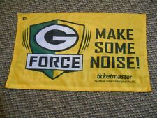 Green Bay Packer G Force Make Some Noise It's Your Team Ticketmaster Game Flag