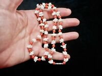 Vintage 1950's Shell & Coral Casual Necklace