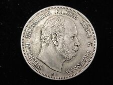 1876 A Prussia 5 Marks Silver Coin Looks XF Km #503