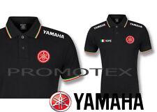 polo maglia yamaha LOGO RICAMATO tricolore corse italia racing maglietta nuova