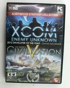 XCom Enemy Unkown/ Civilization V 2K Definitive Strategy Collection (PC, 2013)