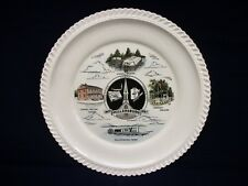 Vintage Millersburg Ferry Canal Boats 1957 Sesquicentennial Plate 10 1/4""