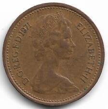 Britain Queen Elizabeth II Half New Penny Coin - 1971