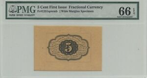 1st Issue 5 Cent Fractional Currency Proof Fr 1231 spwmb PMG Choice Unc-66 EPQ