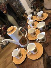 More details for a retro vintage set of j&g meakin j g sunflower design 1960s coffee set
