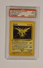 1999 Pokemon Spanish Zapdos Base 1st Edition Holo PSA 9 MINT !!!!