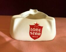 Vintage Lone Star Beer Advertising Ashtray MInt Never Used San Antonio Texas NOS