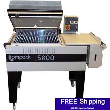 "Shrink Wrap Machine - Compack 5800 L-Bar System w/ Integrated Heat Tunnel (18"" W"