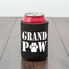 Grandpaw beer can cooler/dog loverGrandad/Fathers Day/Drinking/Funny drinks gift