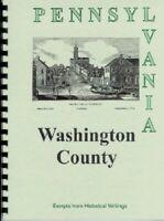 PA Washington County history from 4 Rare Books Canonsburg Whiskey Pennsylvania
