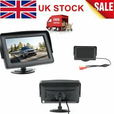 "4.3"" Stand LCD Screen Monitor Display+Car Rear View Reverse Camera with LED UK"
