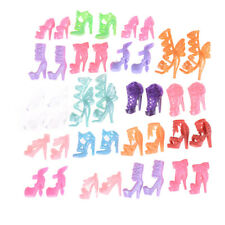 10 Pairs/Set Barbie Dolls Fashion Shoes High Heel Shoes Boots for Barbie Gift