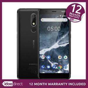 Nokia 5.1 TA-1061 Mobile 16GB Black Camera Smartphone Mobile Unlocked ~