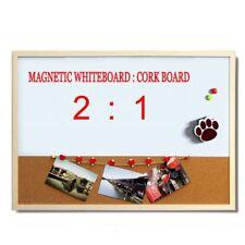 Magnetic Whiteboard Cork Board Combination Wood Frame Plus Marker & Bead 30*40cm