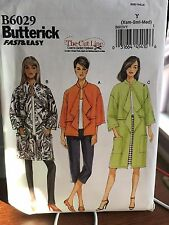 Butterick pattern 6029 misses jacket loose fitting overlays size xmall-medium