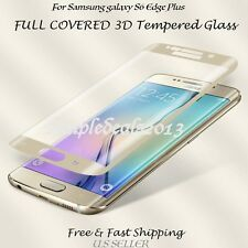 FULL CURVED GOLD TEMPER GLASS SCREEN PROTECTOR FOR SAMSUNG GALAXY S6 EDGE PLUS