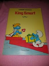 King Smurf By Peyo Soft Cover 1977 Comic Book Style Vintage Book