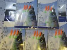 5 DAY GLOW 3 HOOK SZ 6 BOAT ROD SEA PIER FISHING MACKEREL HERRING BAIT RIGS