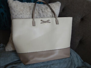 KATE SPADE 2 TONE LEATHER OVERSIZED TOTE BAG