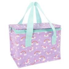 Unicorn Cool Bag MINI Lunch Box PURPLE Rainbows Lunchbox Woven Insulated Cooler