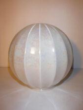 "Vintage Iridescent White Glass Ceiling Pendant Lamp Shade Globe 3-1/8"" Fitter"